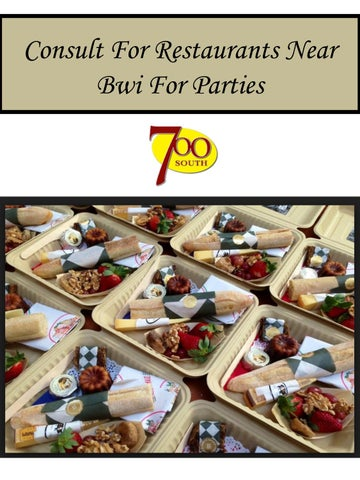 Consult For Restaurants Near Bwi Parties By Southdeli