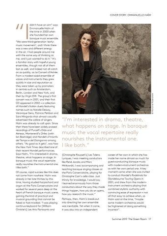 Page 17 of Cover story: Emmanuelle Haïm