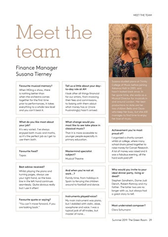 Page 29 of Meet the team: Susana Tierney