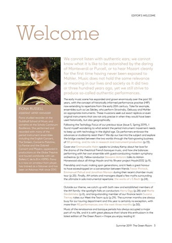 Page 3 of Editorial welcome