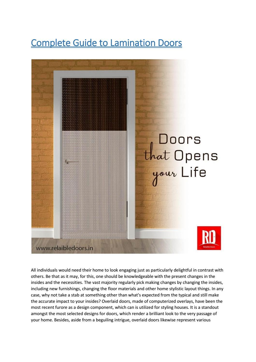 Lamination Door By Relaibledoor Issuu