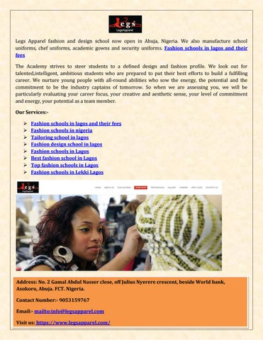 Fashion Schools In Lagos And Their Fees By Kane Richardson Issuu