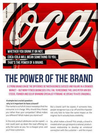 Page 22 of THE POWER OF THE BRAND