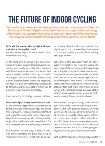 Page 19 of THE FUTURE OF INDOOR CYCLING