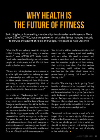 Page 25 of Why health is the future of fitness