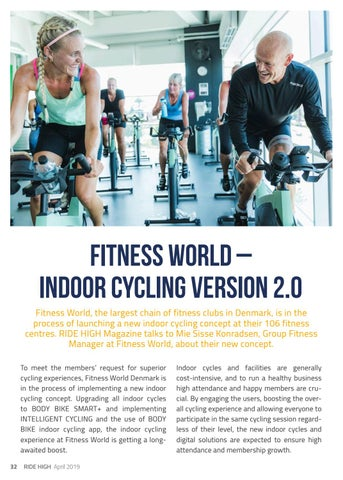 Page 32 of FITNESS WORLD - Indoor Cycling vers. 2.0