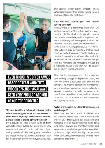 Page 33 of FITNESS WORLD - Indoor Cycling vers. 2.0