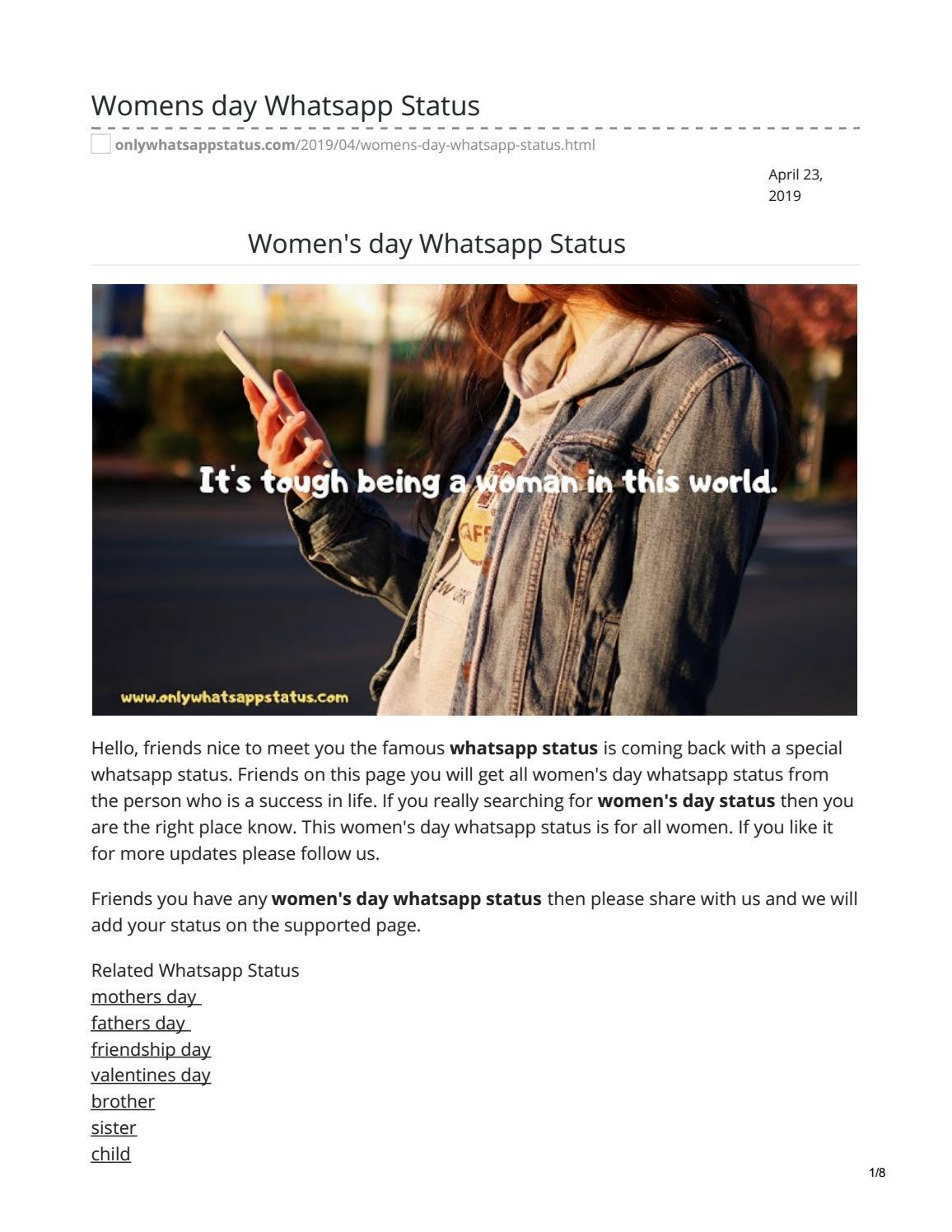 womens day whatsapp status by whatsappstatus - issuu