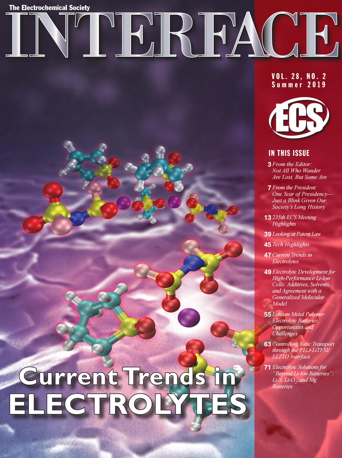 Interface Vol 28 No 2 Summer By The Electrochemical Society Issuu