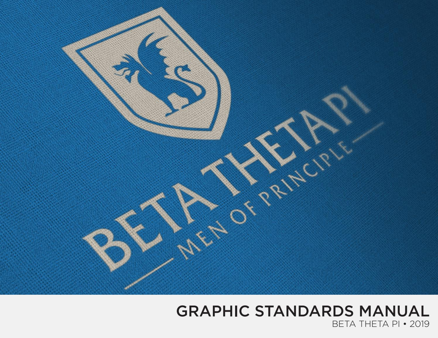 2019 Beta Theta Pi Graphic Standards Manual by Beta Theta Pi