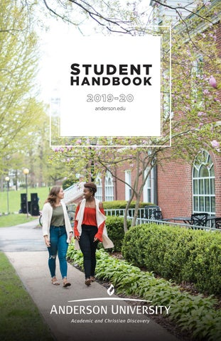 Student Handbook 2019-2020 by Anderson University - issuu