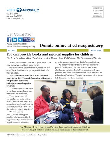 Page 4 of You can provide books and medical supplies for children.