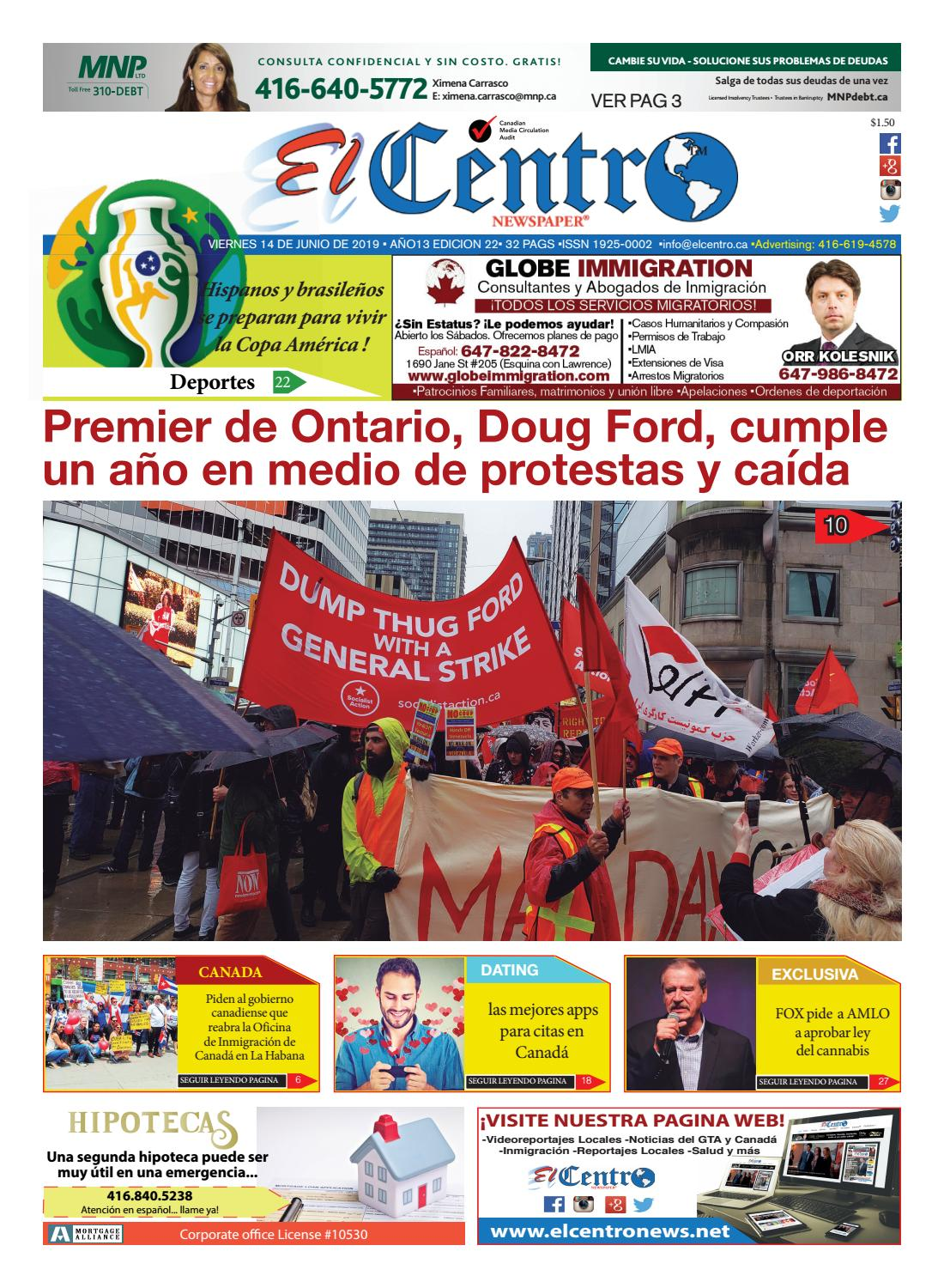 Edición 22 14 De Junio Del 2019 By Elcentromedia Group Issuu