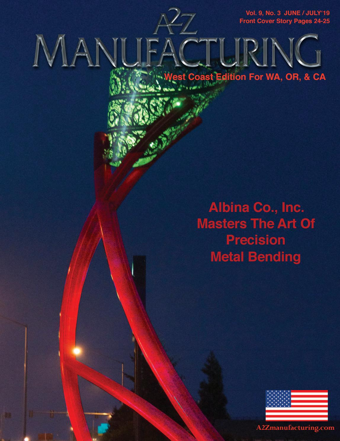 A2Z Manufacturing West Coast June July 2019 by A2Z