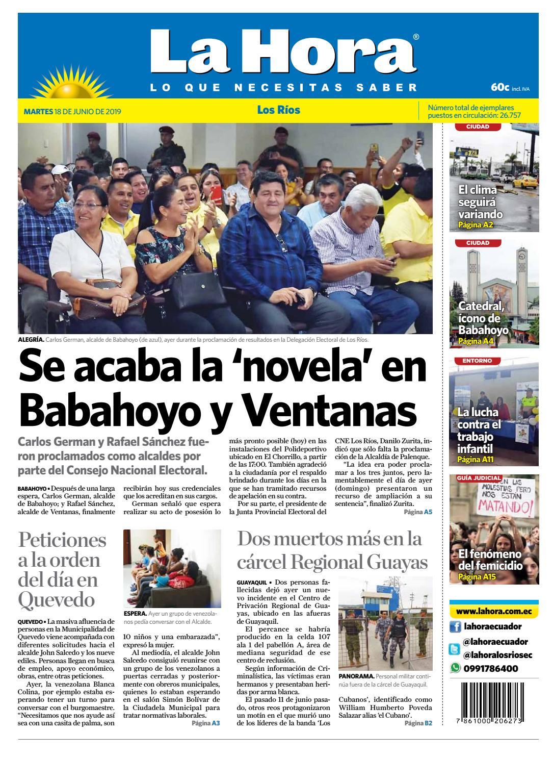 b779a0805d75 Los Ríos 18 de unio de 2019 by Diario La Hora Ecuador - issuu