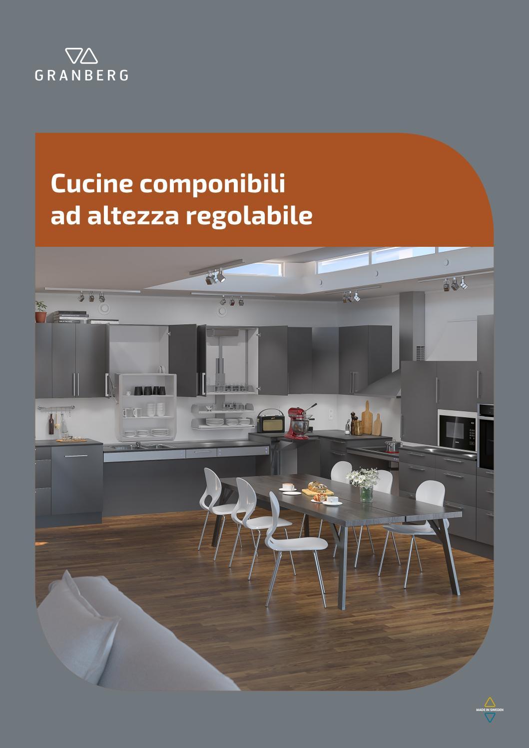 Come Modificare Una Cucina Componibile granberg - cucine componibili ad altezza regolabile by
