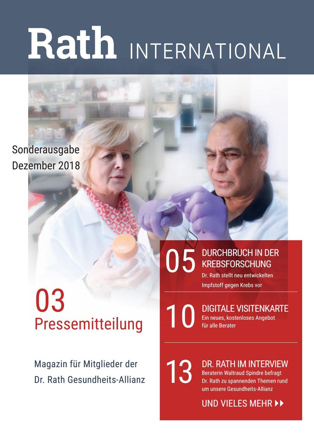 Rath International Ausgabe 01 2018 By Dr Rath Issuu