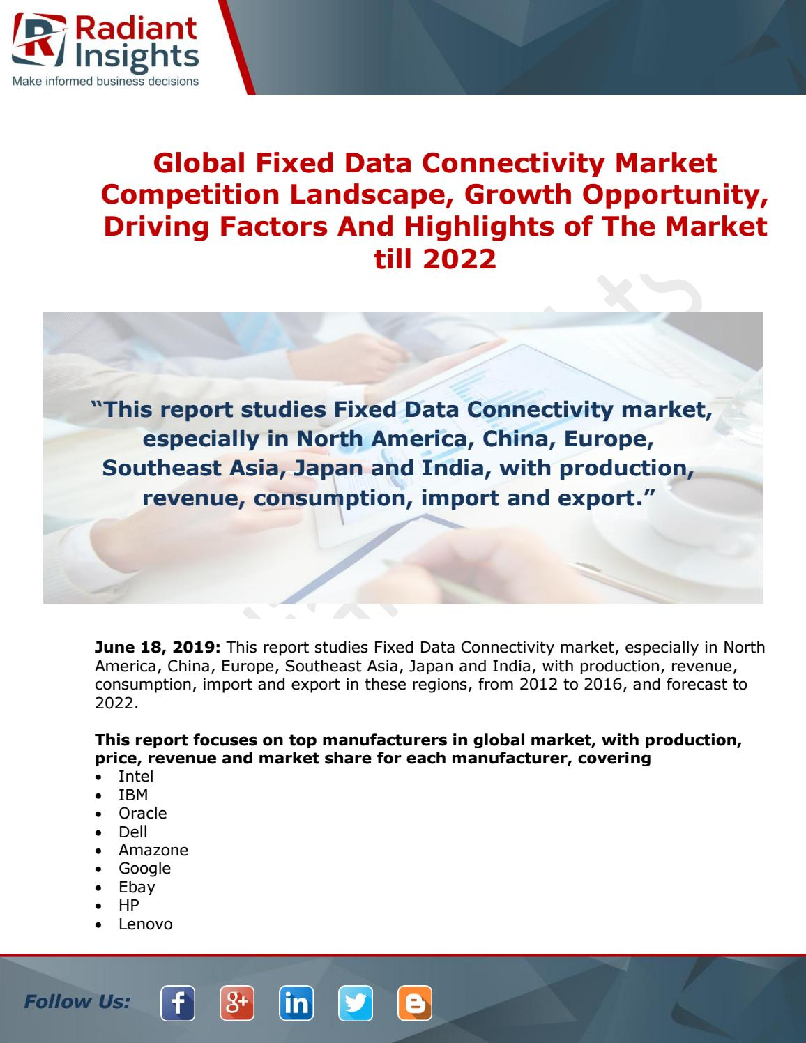 Fixed Data Connectivity Market Business Statistics and