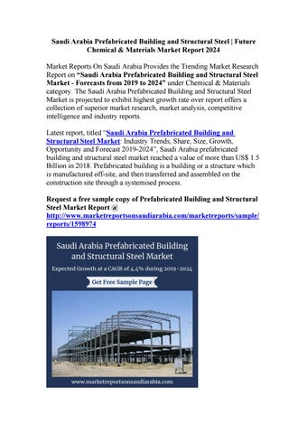 Saudi Arabia Prefabricated Building and Structural Steel