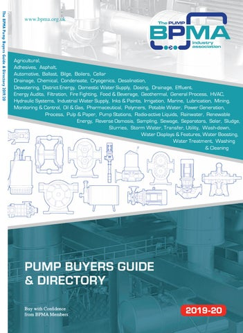 Bpma Pump Buyers Guide Directory 201920 By Michael Lane