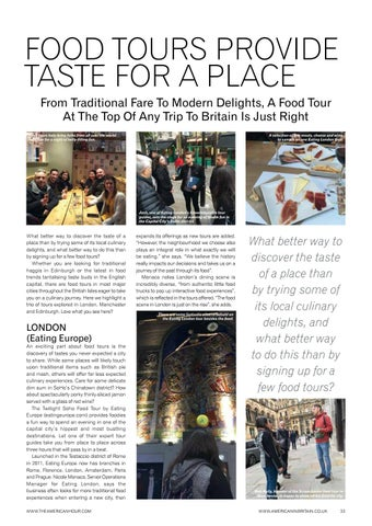 Page 35 of Food Tours Provide Taste For A Place