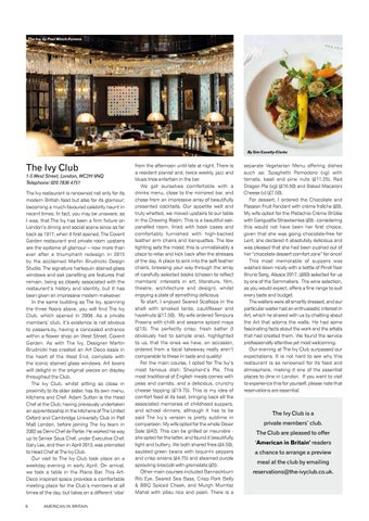 Page 8 of Restaurant Review - The Ivy Club