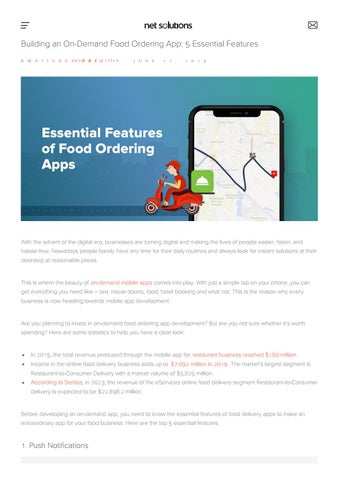 Essential features before developing food delivery mobile