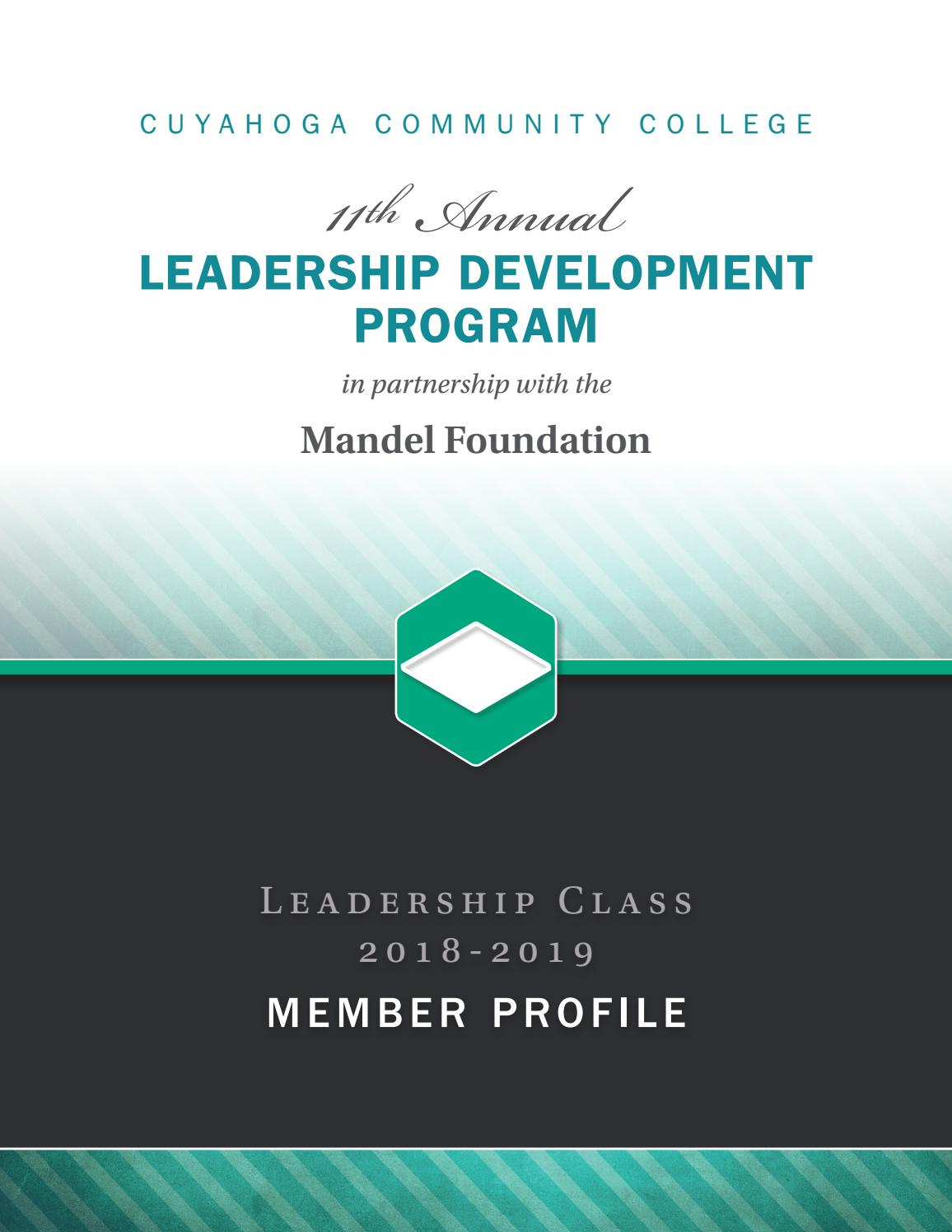 Leadership Development Progam by Cuyahoga Community College