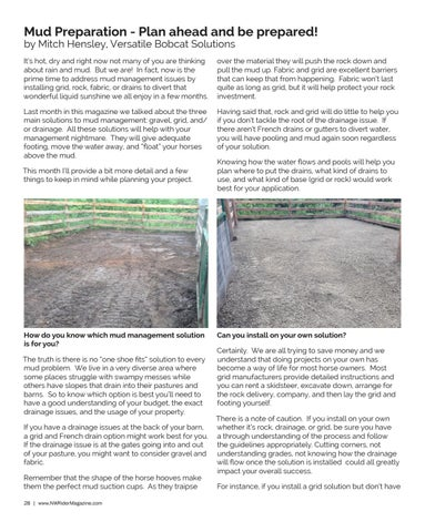 Page 28 of Mud Prevention - Plan ahead and be prepared