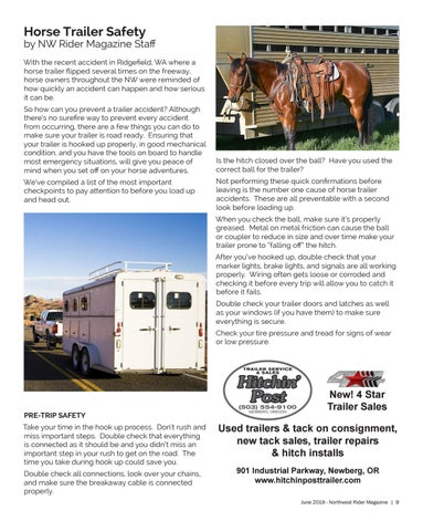 Page 9 of Horse Trailer Safety