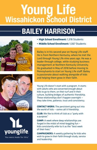 Young Life Wissahickon High School — Bailey Harrison by Young Life