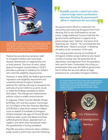 Page 9 of Protecting Vulnerable Immigrant Children in California