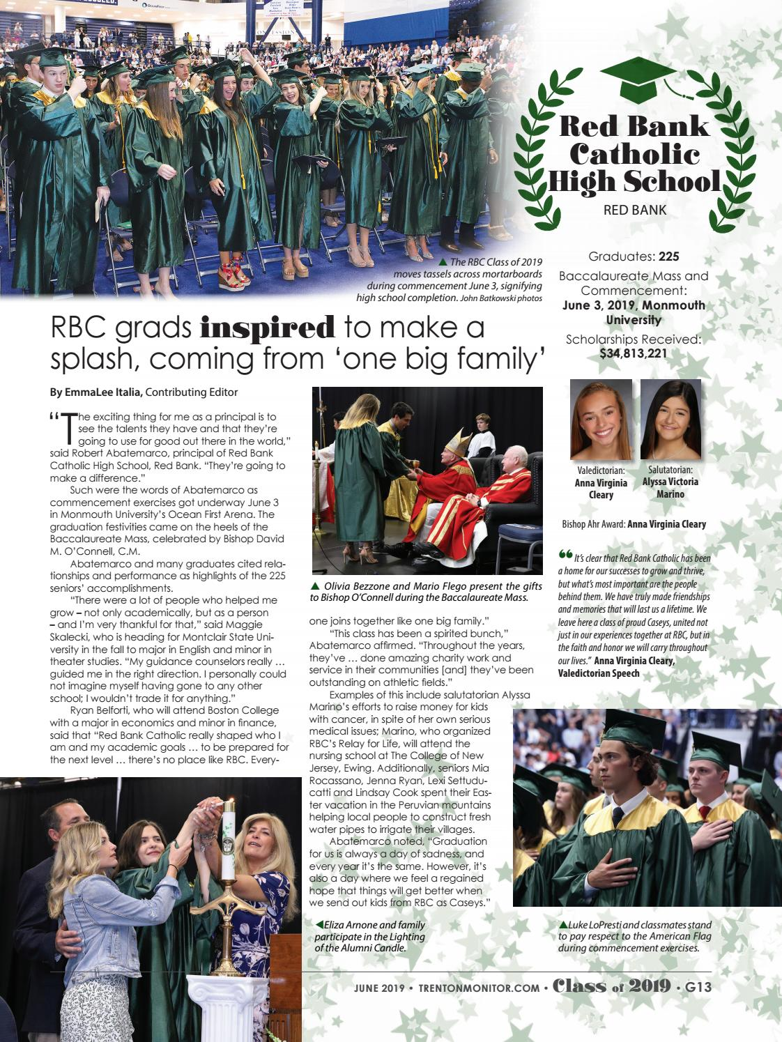 Monitor Graduation 2019 Special Issue by Diocese of Trenton