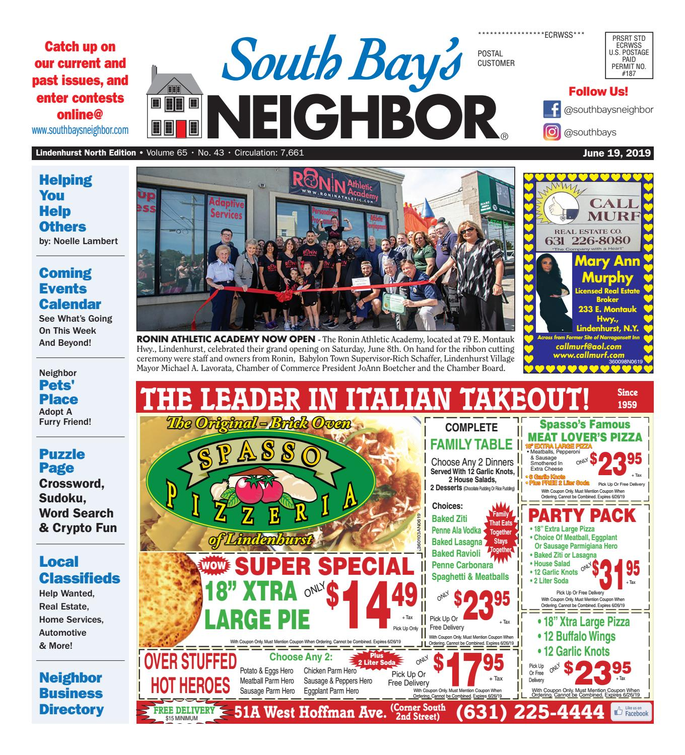 June 19 2019 Lindenhurst North By South Bay S Neighbor Newspapers Issuu