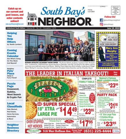 June 19, 2019 Lindenhurst South by South Bay's Neighbor Newspapers