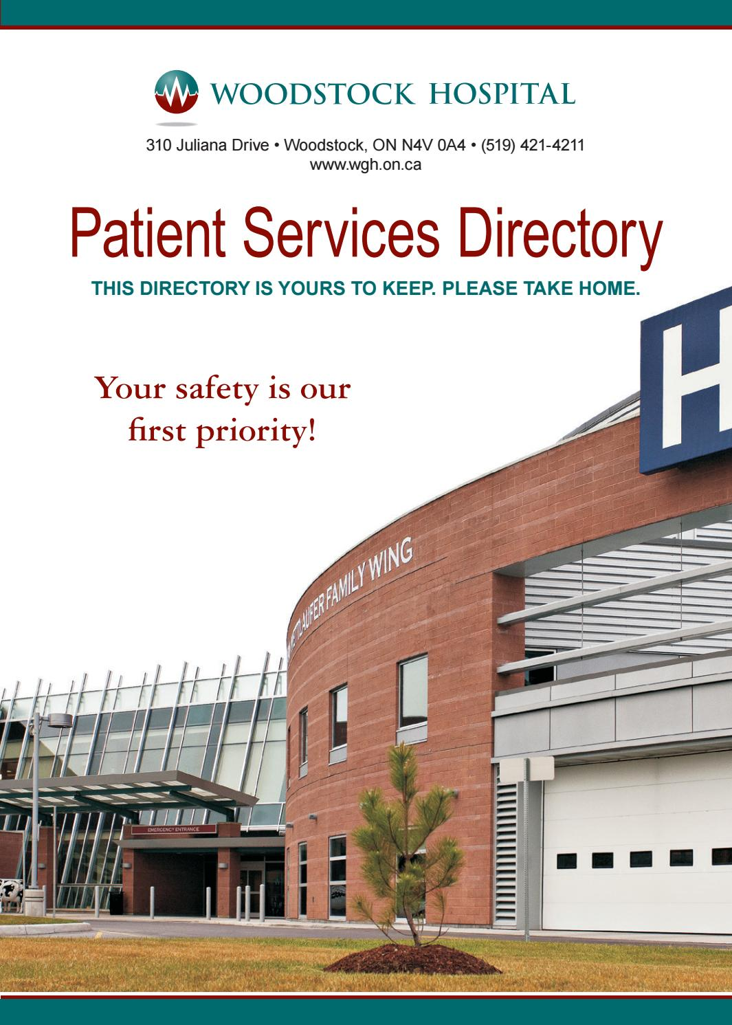 woodstock hospital patient services directory by willow publishing - issuu
