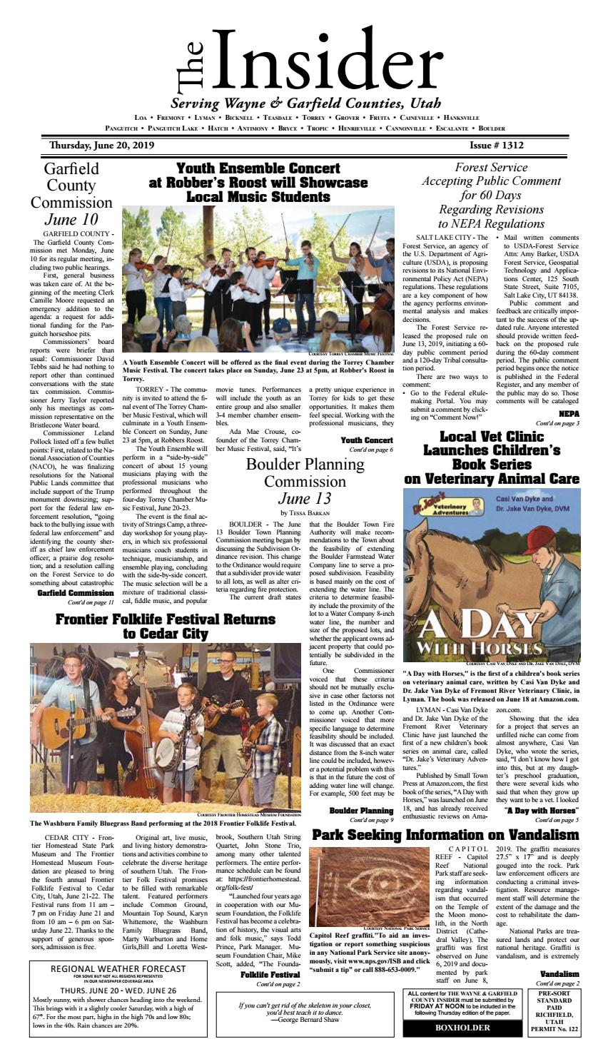 The Wayne & Garfield County Insider June 20, 2019 by