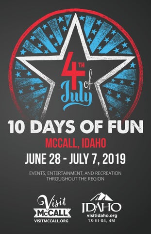 2019 10 Days of Fun Guide - Fourth of July by McCall Area