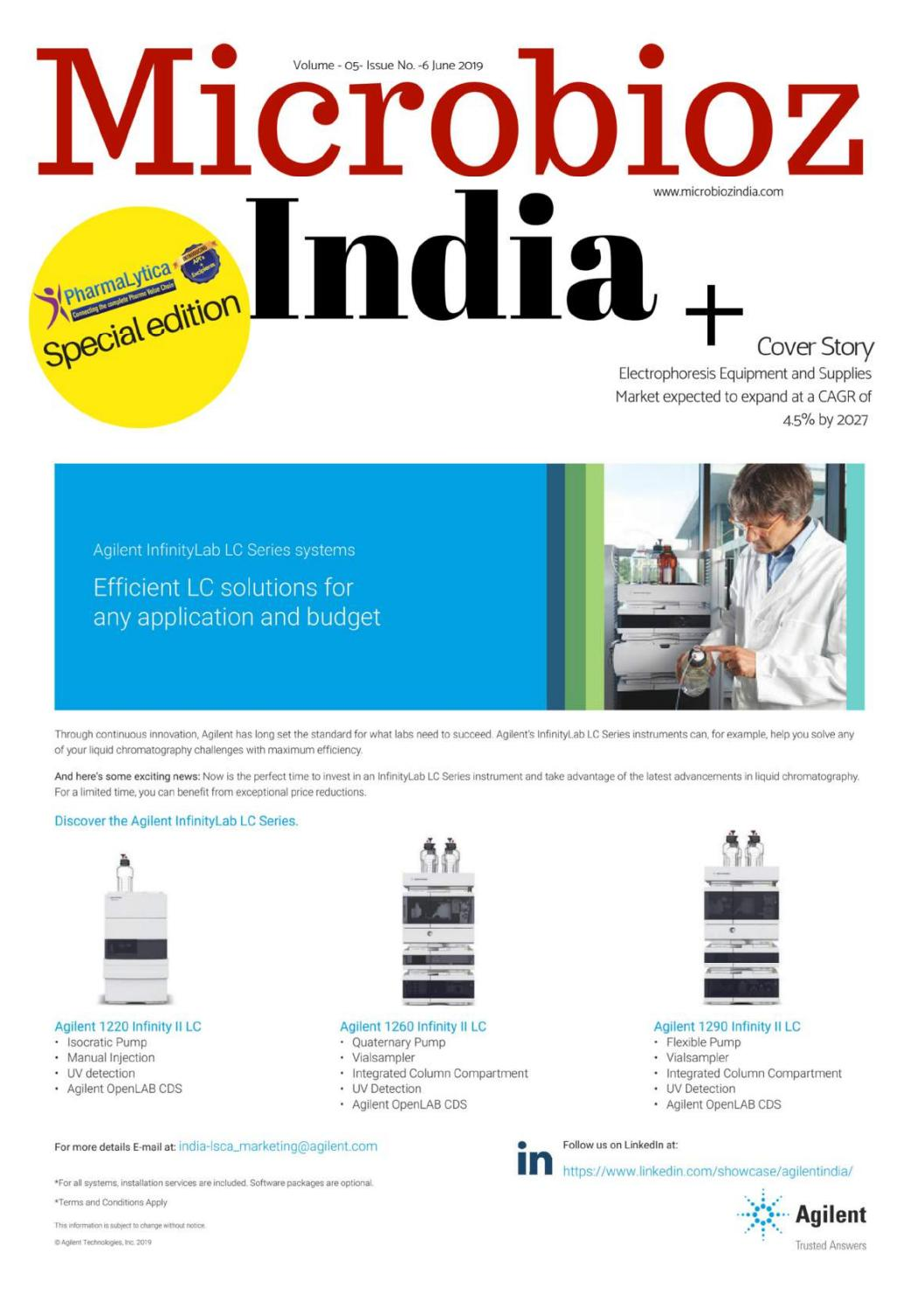 Microbioz India : June 2019 edition of the magazine by