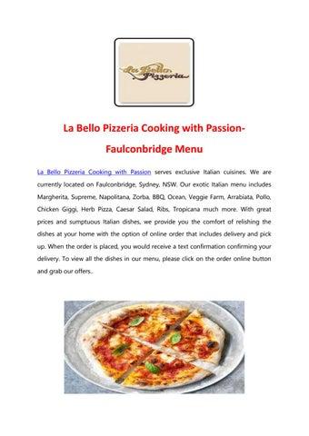 La Bello Pizzeria Cooking with Passion - Order Italian Food
