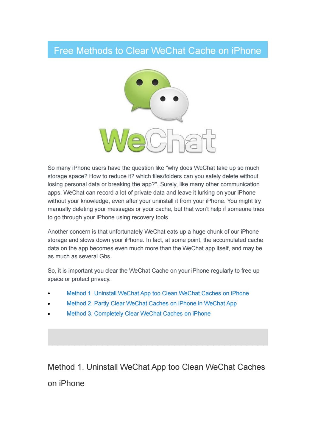 Free Methods to Clear WeChat Cache on iPhone by PhoneSkill