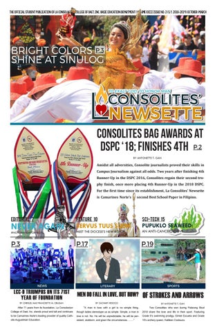 La Consolites' Newsette School Year 2018-2019 Issue No  2 by