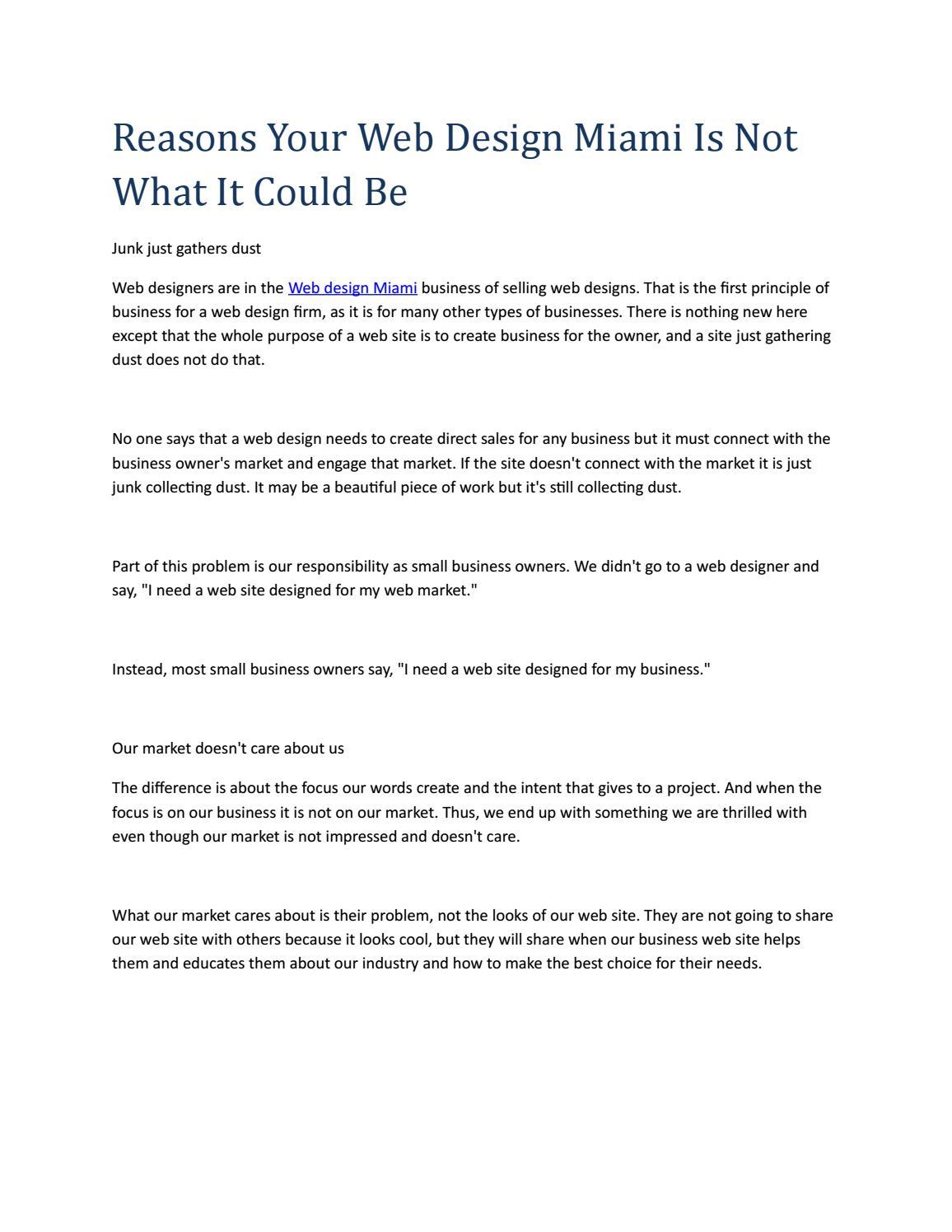Web Design Miami By Amyjustice00 Issuu