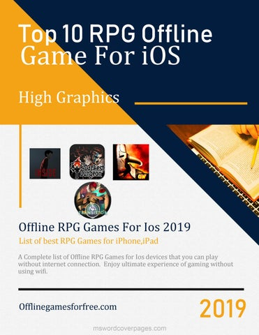 Best Offline RPG Games For iPhone,iPad 2019 by shahbaz