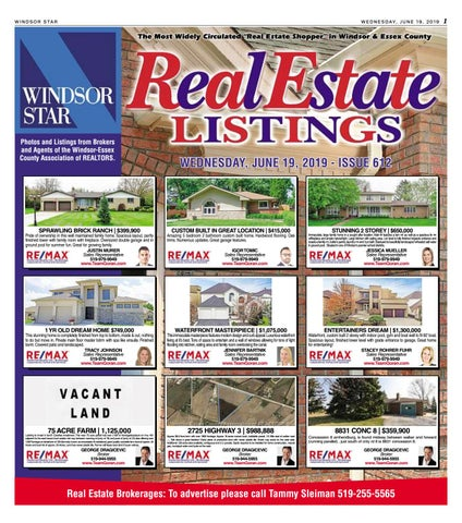 Windsor Star Real Estate Listings 061919 by The Windsor Star - issuu