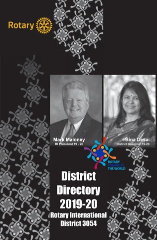 Rotary International District 3054 - District Directory 2019-20 by