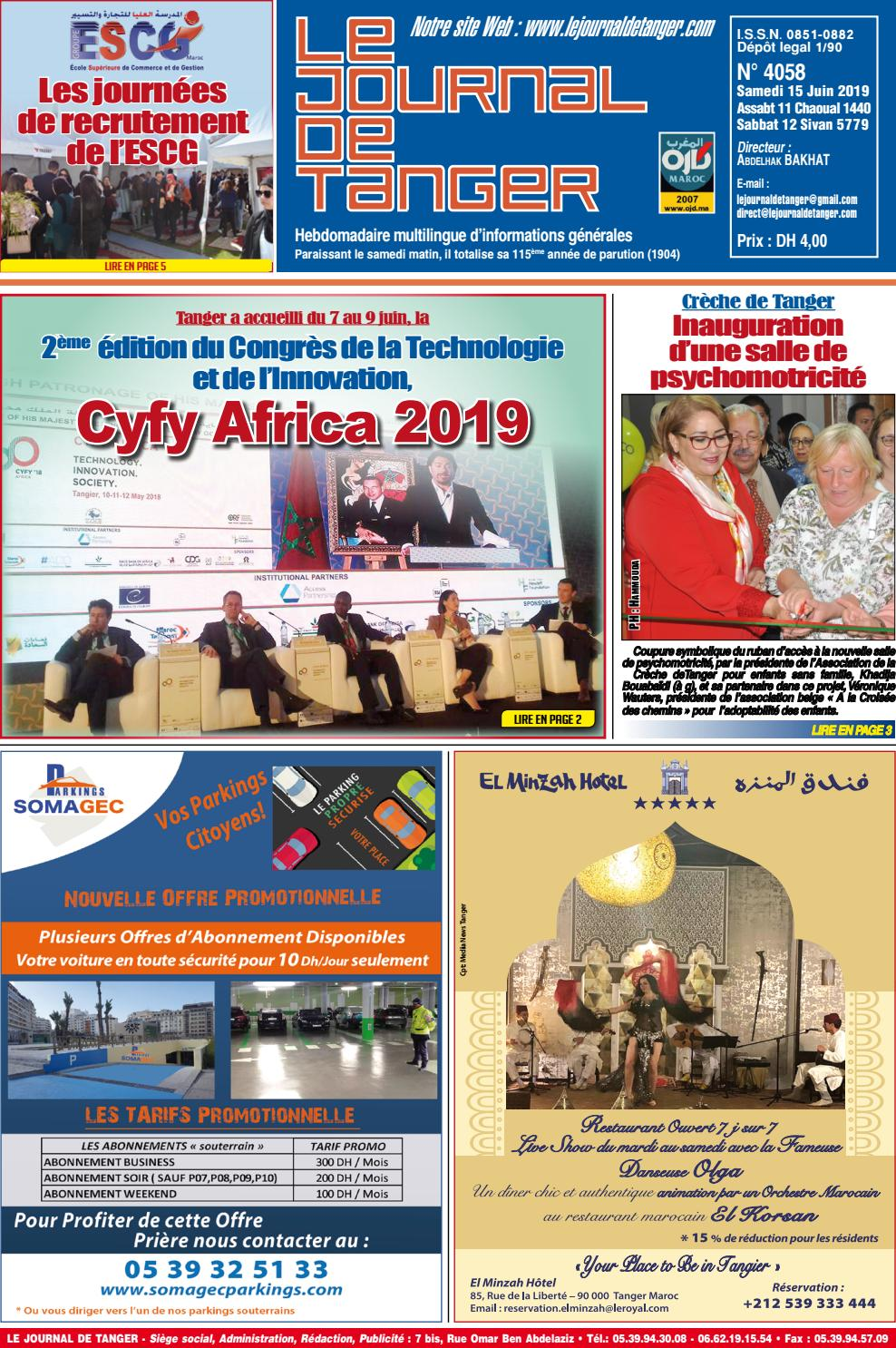 Le Journal De Tanger 15 Juin 2019 By Le Journal De Tanger