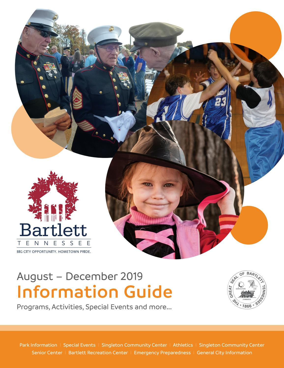 Bartlett Christmas Parade 2020 Route City of Bartlett Information Guide August – December 2019 by City