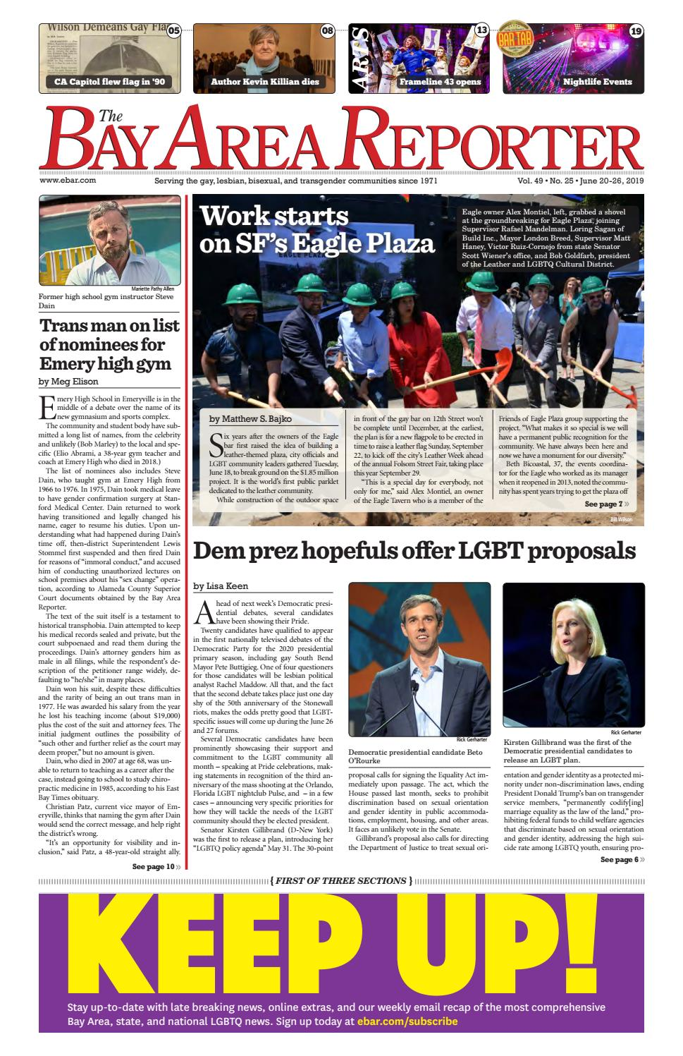 June 20, 2019 Edition of the Bay Area Reporter by Bay Area