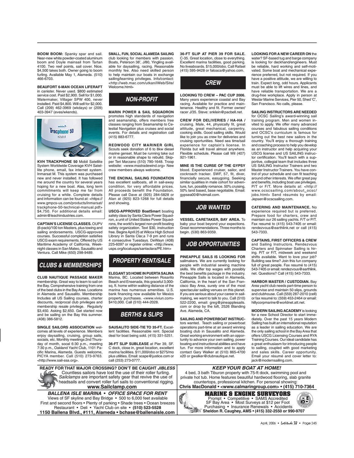 Latitude 38 April 2006 by Latitude 38 Media, LLC - issuu